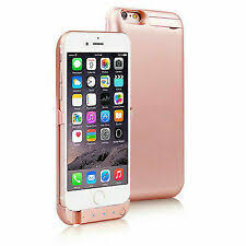 Rose Gold 10000mAh PowerBank Case Rechargeable Protective Battery Case for iPhone i6/i7
